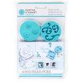 Martha Stewart Crafts 瑪莎-創意捏塑造型組-框與圖騰矽膠模(4入)43-00014