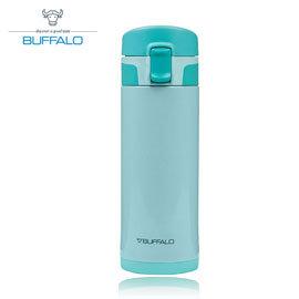 【牛頭牌 BUFFALO 】彈蓋保溫瓶 350ml (304不鏽鋼) 藍 - AF1E301