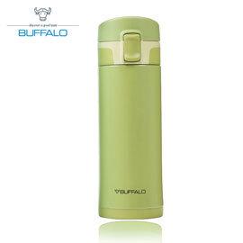【牛頭牌 BUFFALO 】彈蓋保溫瓶 350ml (304不鏽鋼) 綠 - AF1E402