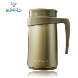 【牛頭牌 BUFFALO 】保溫把手杯 420ml (304不鏽鋼) 香檳金 - AF2D407