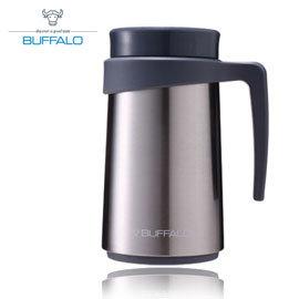【牛頭牌 BUFFALO 】保溫把手杯 420ml (304不鏽鋼) 原色 - AF2D407