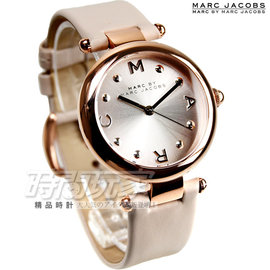 1efc6dd56529 PChome Online 商店街- 時間玩家專業手錶店- MJ1408 小馬克MARC JACOBS MBMJ 典雅氣質真皮錶女錶玫瑰金電鍍