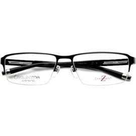 新款Charmant Z正品鏡框時尚復古純鈦半框男士配近視眼鏡架19800 BK