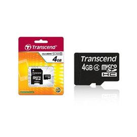 創見 microSDHC Class 4 4GB microSD記憶卡  入門款~無轉接卡