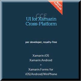 Telerik UI for Xamarin Cross-Platform  Developer License with Updates and Priority Support商業單機下載版