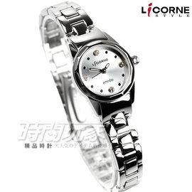 LT078LWWS 力抗 LICORNE 晶鑽時刻不鏽鋼腕錶 女錶 銀