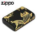 【詮國】Zippo 日系經典打火機 - 錦鯉 (金色) 雙面跨面圖紋設計 - 2NBG-A (ZP475)