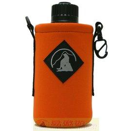Outdoor Active OA山貓 1000CC水壺套(大) 橘 P-1000 附背帶 配件 水壺袋 【易遨遊】