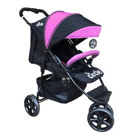 德國 Circle TREVISO 3S 3輪手推車 推車 嬰兒推車~粉紅