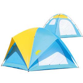 【【蘋果戶外】】犀牛 A-065 『贈睡墊 營燈』RHINO 六人高頂蝶式帳篷帳棚帳蓬 A065 送台製睡墊