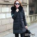 【CHACO CHACO】韓系 時尚歐美風大毛領個性長版羽絨棉大衣外套2817(2色)