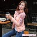 【CHACO CHACO】韓系 個性時尚印花立領羽絨棉長袖外套6616(2色)