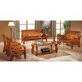 HY-613-8 325茶色實木組椅-含大小茶几-整組恕不拆賣