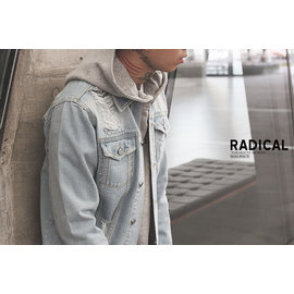 RADICAL 商店15 AW SCRATCHED DENIM JACKET 破壞水洗牛仔外套 淺藍賣場