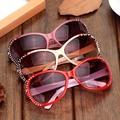 A1511 2007女款鑲鉆淺色遮陽鏡 防紫外線戶外太陽鏡精致墨鏡