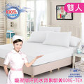 【精靈工廠】白色看護級100%防水透氣床包式保潔墊-雙人(B0604-WM)
