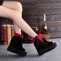 【ALicE】(預購) Y1055-6 下架-假反摺側邊綁帶魚口鞋-紅