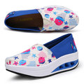 【ALicE】Y1027-5 普普風亮麗色彩氣墊式健走鞋-藍