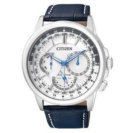 【時間光廊】 星辰錶 CITIZEN 光動能 Eco-Drive 三眼皮帶 全新原廠公司貨 BU2020-11A