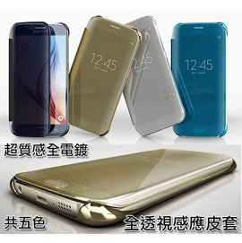 全透視感應皮套 A5/ A7/ A9/ J7/ 2016版 A510/ A710 S7/ S7 edge/ Note8 玫瑰金 LG G5 Clear View 鏡面立顯手機...