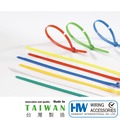 【和旺電配】HW-380S(B) 大型-尼龍束線帶 束帶 束線帶 紮線帶 380x6.4mm (黑白) [100入]