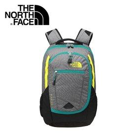 【The North Face  27L  15吋電腦背包 鋅灰/ 硫黃綠】電腦包/ 後背包/  NF00CHJ8