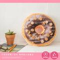 可愛甜甜圈小抱枕 28x28cm 隨機