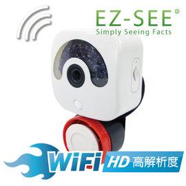【EZ-SEE】★歐美熱銷★高清晰 WiFi 攝錄機 HD 夜視 網路 攝像機 監視器 監控 智慧 遠端 防盜 紅外線感應 警報器 警鈴