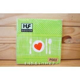 【幸福瓢蟲手作雜貨】#007954 餐具(綠底P003)~33*33cm餐巾紙整包20張/ 蝶古巴特/ 彩繪拼貼/ DIY素材