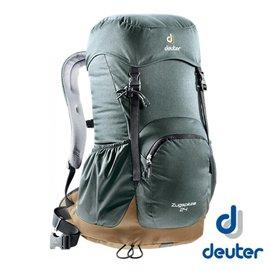 【德國 deuter】 ZUGSPITZE 網架直立式透氣背包24L-灰/ 咖啡 登山 健行 旅遊 3430116