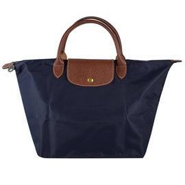 【全新現貨 優惠中】法國Longchamp Le Pliage 折疊短揹帶中肩提包.深藍 #1623現金價$2, 980