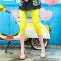岱妮蠶絲 - 野性美造型口袋七分褲 (4E)