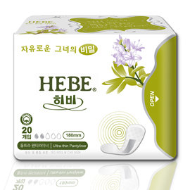 HEBE草本負離子衛生棉-護墊18cm(20片/包)