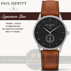 PAUL HEWITT德國工藝Signature Line簡約 真皮腕錶PH-M1-S-B