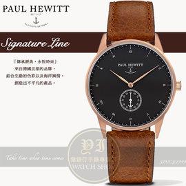 PAUL HEWITT德國工藝Signature Line簡約 真皮腕錶 玫瑰金PH-M1