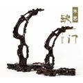 一套2個優惠價黑梓木雕刻擺件 紅木工藝品 首飾架 根雕吊玉架 掛玉架