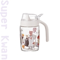 【寬好物】甜蜜貓玻璃油壺250ml/醬料油醋瓶罐廚房炒鍋平底鍋