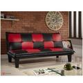 !!新生活家具!! 皮沙發床 黑色 紅色 沙發床 復古 三人位沙發床 限時特價 (五子棋) 非 H&D ikea 宜家