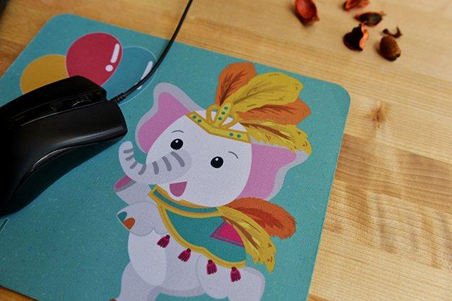滑滑鼠墊 電競滑鼠墊 嘉年華大象款