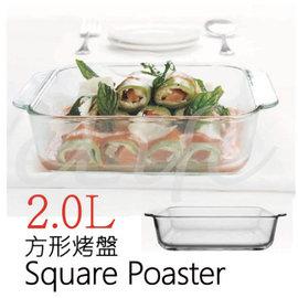 烤盤【台灣製造】微波烤箱系列 耐熱玻璃盤 2L