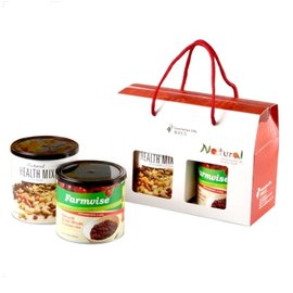 清淨生活 健康零嘴禮盒 (天然綜合堅果310g+農場智慧-蔓越莓乾250g)