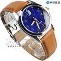 WIRED 限量款 進擊的巨人 艾倫聯名錶 特殊錶盒 贈角色徽章 皮帶錶 AY8007X1 VJ42-KH30B