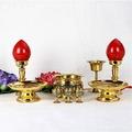 套餐二純銅香爐 果盤電燭圣水杯佛具組合套裝 風水佛像配件家居寺廟佛具