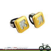 速度公園 Knog Blinder 4 USB 極亮4LED 前/後燈(組) 防水 箭頭黃色 公路車 登山車 單速車