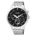 CITIZEN Eco-Drive 簡約時尚經典腕錶/ 黑/ AP1050-56E