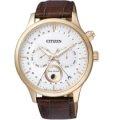 CITIZEN Eco-Drive 簡約時尚經典皮帶腕錶/ AP1052-00A