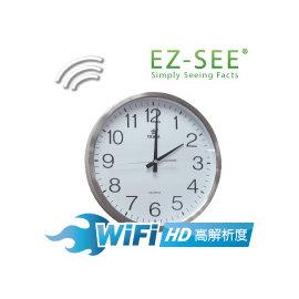 【EZ-SEE】★歐美熱銷★高清晰 WiFi簡約掛鐘攝錄機 HD 攝像機 監視器 監控 智慧 遠端 隱藏式