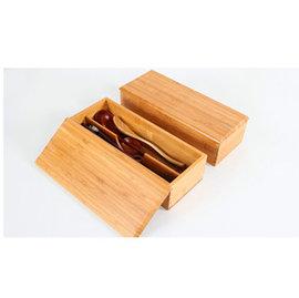 ~微加幸福雜貨小築~日式 簡約 竹製 餐具收納盒 筷子收納盒 長方形 文具收納 木盒 餐具收納盒 衛生筷 收納盒  雜貨 有蓋子
