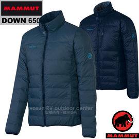 【瑞士 MAMMUT 長毛象】男新款 Whitehorn IS 輕量羽絨保暖夾克外套(雙面穿 JIS 90/10)雪衣/登山健行滑雪賞雪/22200-5868 獵戶藍/海洋藍