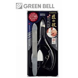 【永昌文具】日本綠鐘匠之技鍛造不銹鋼硬指甲剪附銼刀組(G-1027)